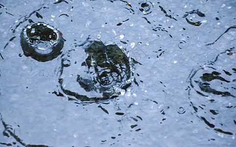 雨滴溅出水花图片