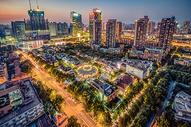 武汉城市夜景武汉天地图片