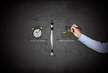 笔画时间与金钱衡量图片