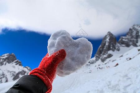 玉龙雪山爱心雪饼图片
