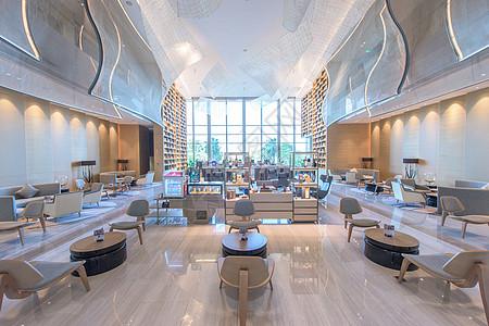 五星级酒店希尔顿大堂图片