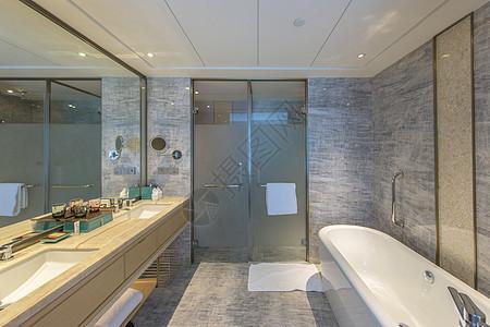 五星级酒店希尔顿卫生间图片
