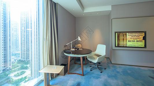五星级酒店希尔顿景观房图片