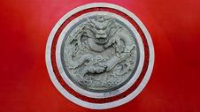 中国龙浮雕图片