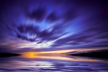 茶卡盐湖夕阳图片