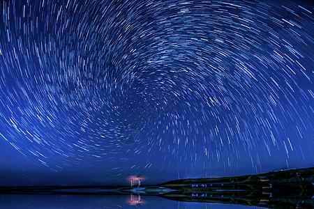 青海湖二郎剑星空图片