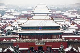 北京故宫雪景图片