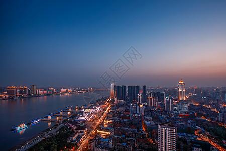 武汉长江江滩夜景图片