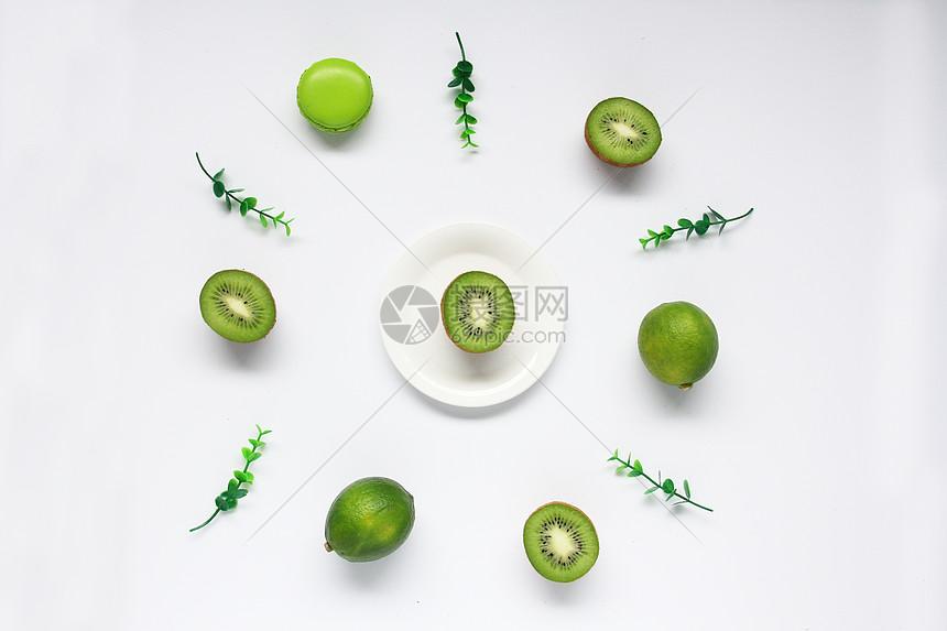唯美图片 餐饮美食 新鲜水果猕猴桃白色背景图jpg  分享: qq好友 微信