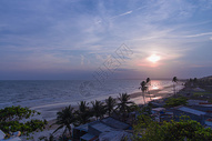 越南美奈海边落日图片
