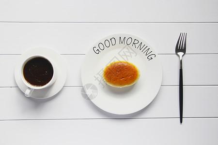 美味营养健康早餐芝士蛋糕图片