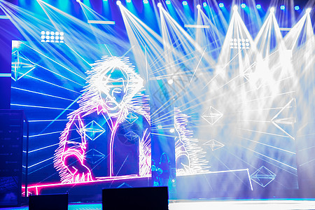 舞台灯光现场图片