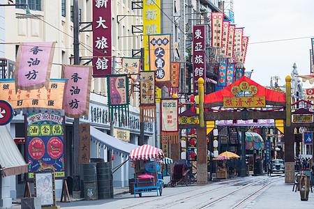 老上海街头场景图片