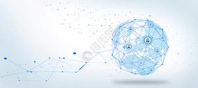 蓝色地球信息科技背景图片