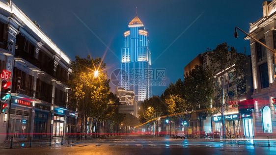 武汉城市道路街景夜景图片