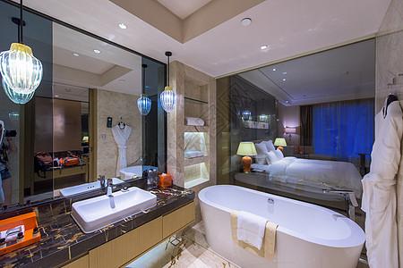 星级酒店豪华浴室卫生间图片