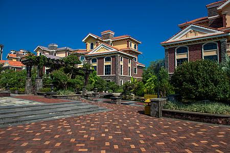 欧式别墅小区全景实拍高清图片