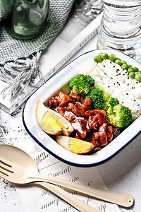 ins风台式卤肉饭图片