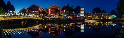 桂林阳朔西街步行街夜景图片