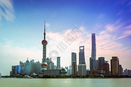 上海陆家嘴东方明珠外滩金融中心背景图片