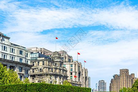上海陆家嘴外滩天空风光图片