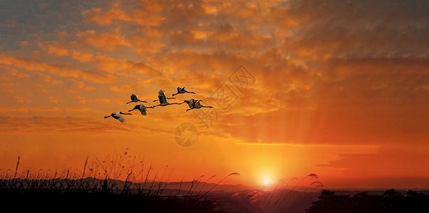 夕阳落日高清图片