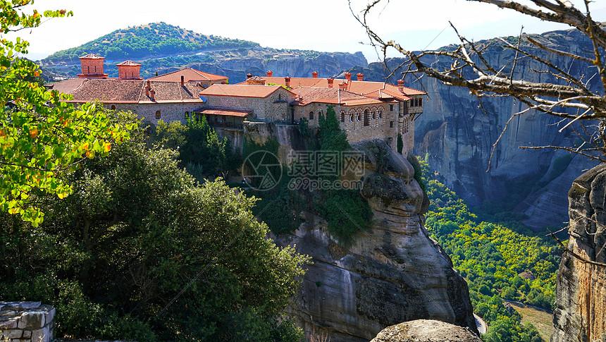希腊的岩石山图片
