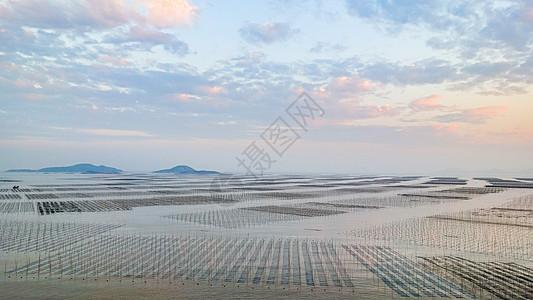 福建霞浦滩涂日落风光图片