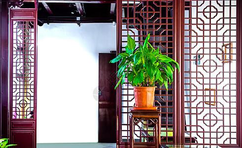 中国古建筑室内装饰背景图片