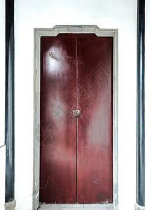 中国古典建筑门扇背景图片