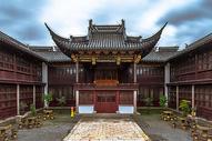 中国古建筑传统庭院背景图片