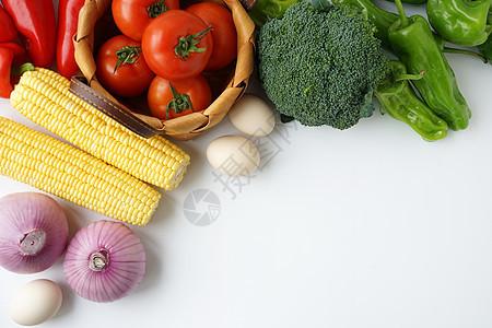 烹饪食材平铺素材图片