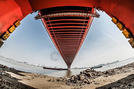 红色大桥图片