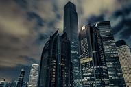 广州高楼夜色黑金风格图片