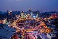 武汉城市夜景光谷广场图片