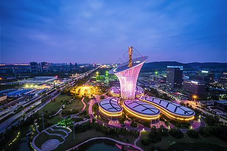 武汉城市夜景未来科技城图片