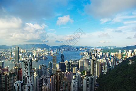 香港太平山顶风景高清图片