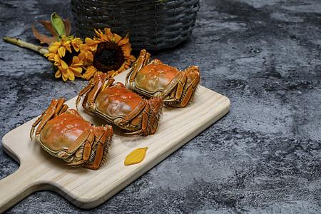 金秋十月蟹上市图片