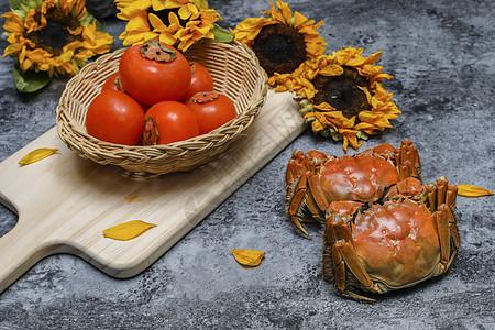 柿子和蟹不能一起吃图片