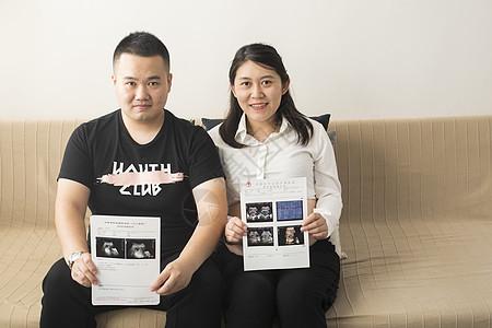孕妇看宝宝的B超照图片