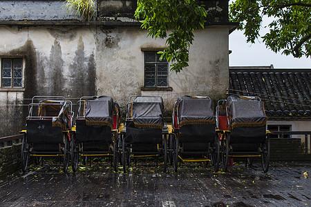 古城街景黄包车图片