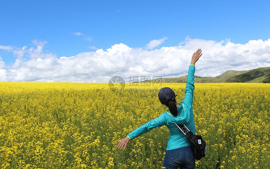 唯美图片 自然风景 八美油菜花jpg
