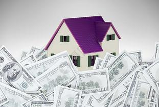 钱堆里面的房子图片