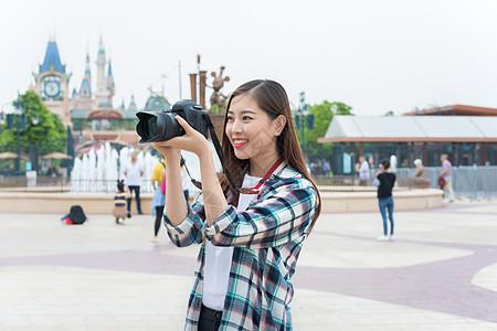 城市旅行女孩相机图片