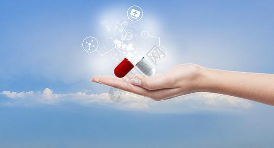 手与医疗创意图图片