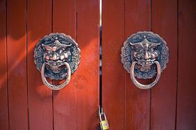 北京胡同的老门环图片
