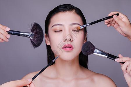 气质美女化妆人像图片