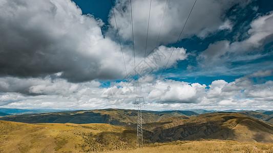 折多山电网图片