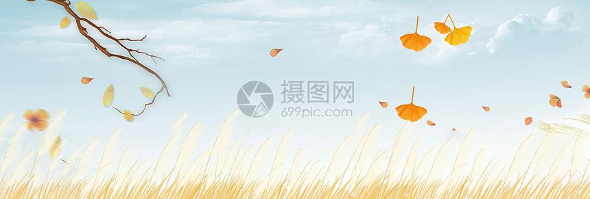 秋天文艺背景图片