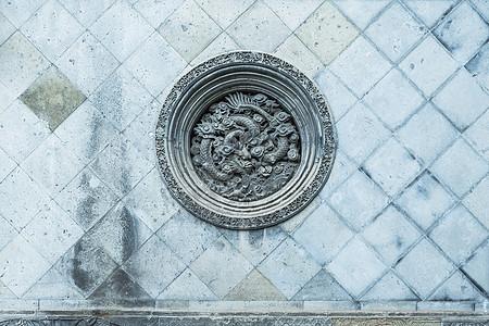 中国元素龙形石雕图片